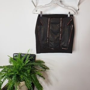Urban Outfitters studded panel black mini skirt